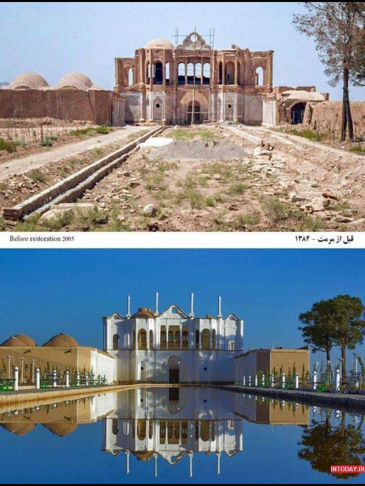 باغ فتح آباد کرمان، قبل و بعد از مرمت