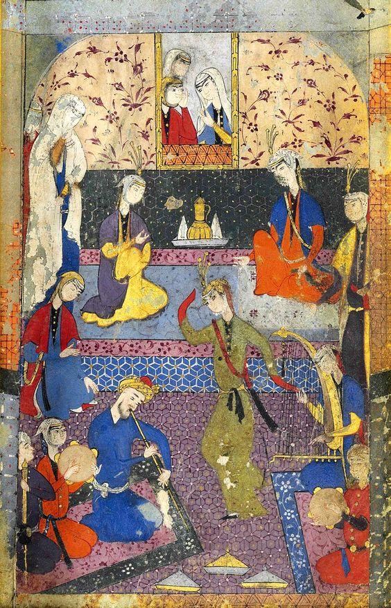 نوازندگان و بانوی رقصنده- شیراز- دوره صفوی