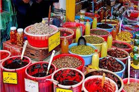 ترشیجات در بازار محلی رامسر