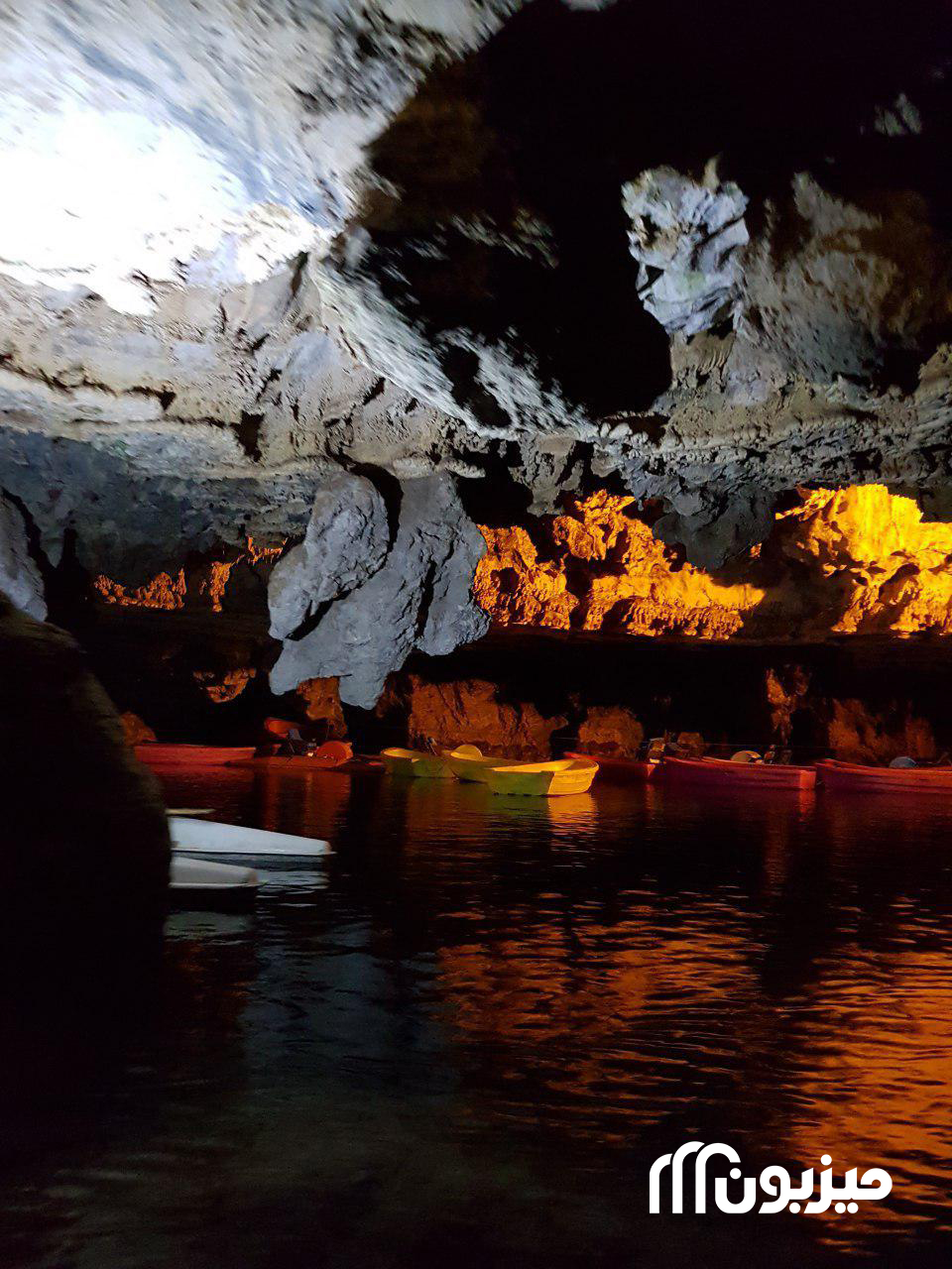 قایقرانی در غار علیصدر