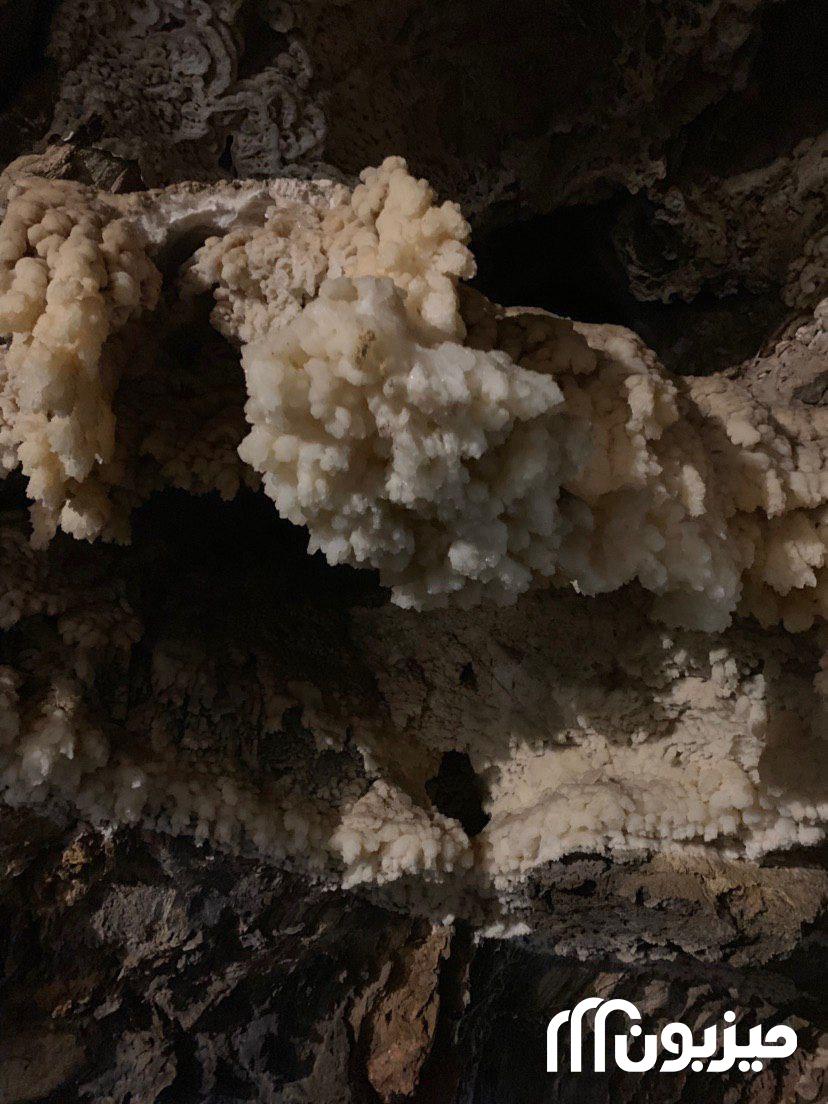 اشکال مختلف رسوبات درون غار