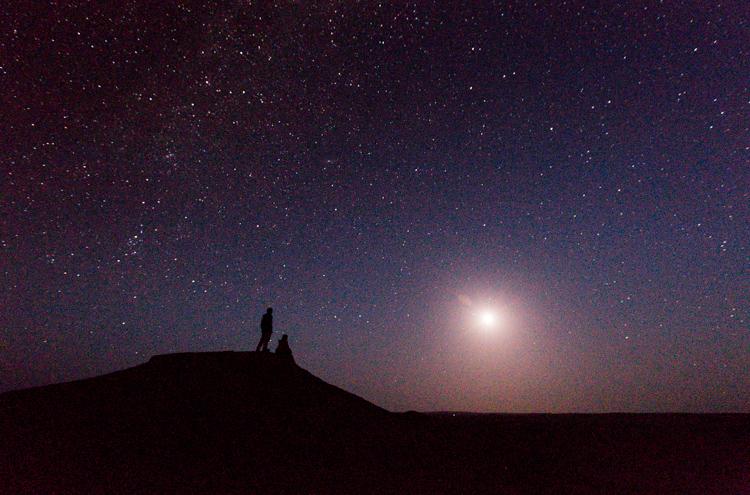 آسمان در شبهای کویر