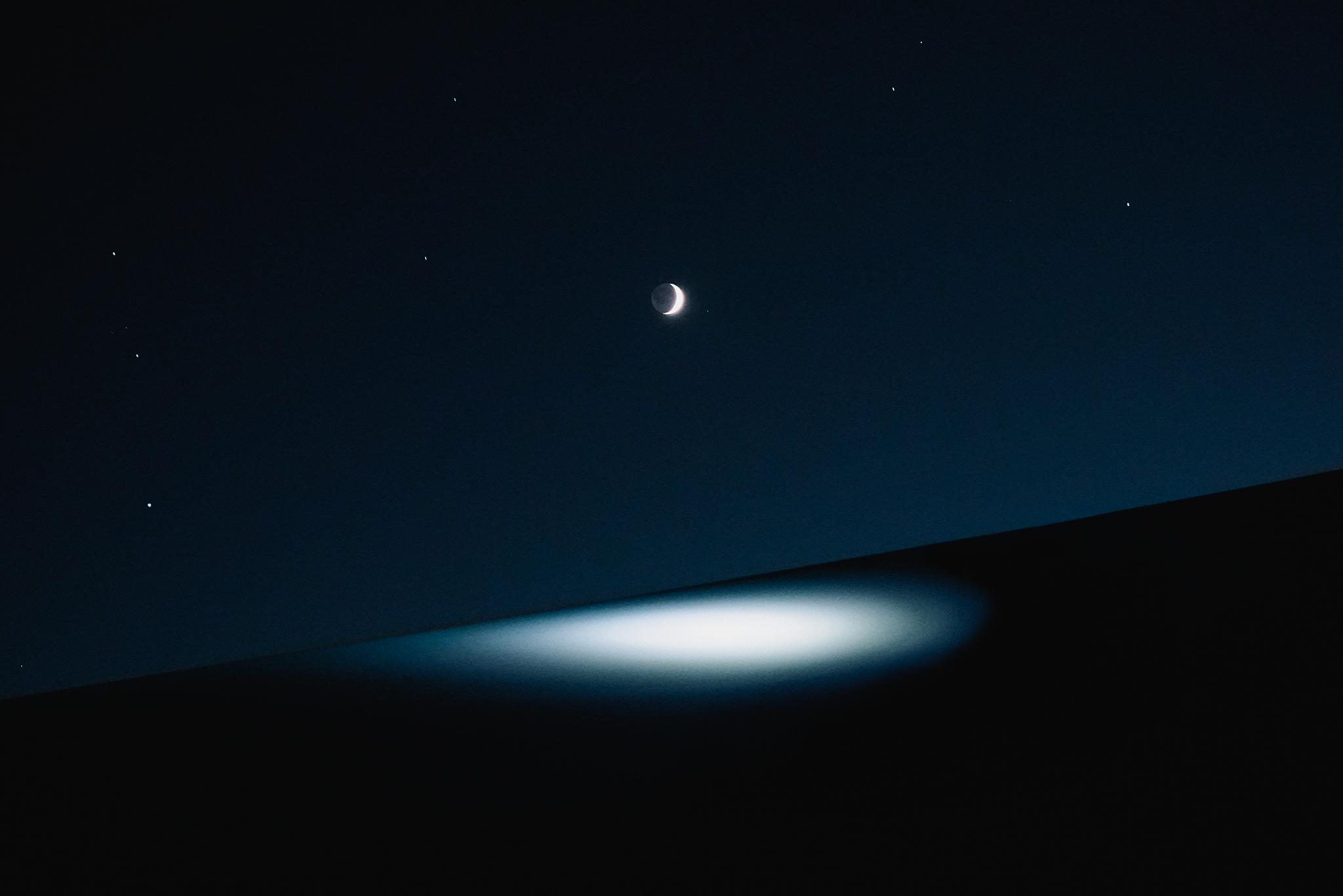 آسمان کویر در شب