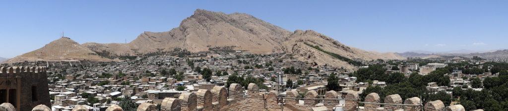 نمایی از شهر زیبای خرمآباد از بالای قلعه فلکالافلاک