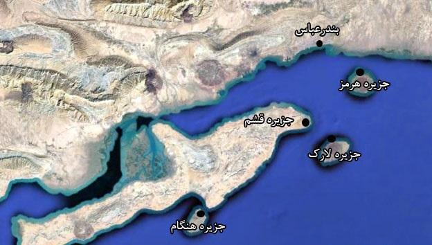 موقعیت جغرافیایی جزیرۀ هنگام