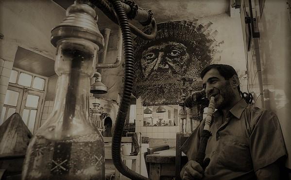 قدیمیترین قهوهخانه در محلۀ دوهچی در شهر تبریز