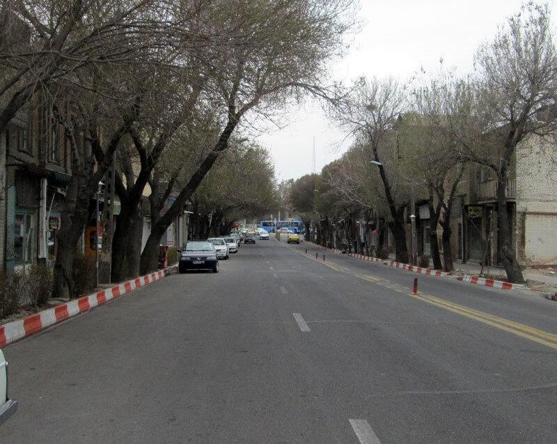خیابان ششگلان در شهر تبریز