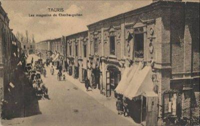خیابان ششگلان در شهر تبریز در گذشته