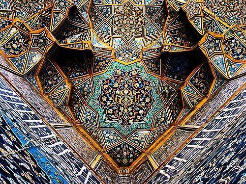مدرسۀ چهار باغ در شهر اصفهان