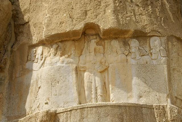 سنگنگاره بهرام دوم ساسانی- نقش رستم
