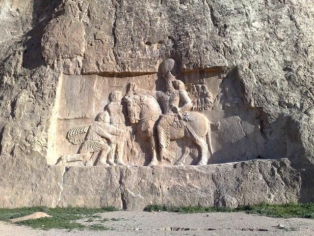 سنگ نگاره شاپور اول ساسانی- نقش رستم